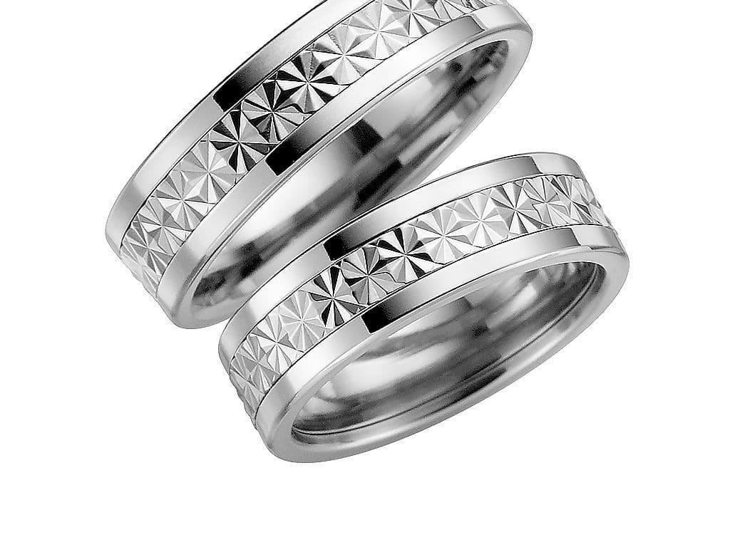 Förlovningsring Schalins i 18k vitguld & titan Trend – 5001-6