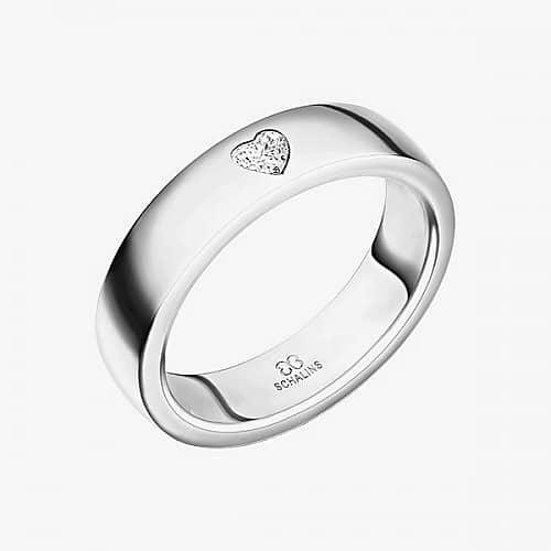 Diamantring från Schalins ringar i 18k vitguld med 1 st Hjärtslipad diamant på 0,12 ct Wesselton/ SI,