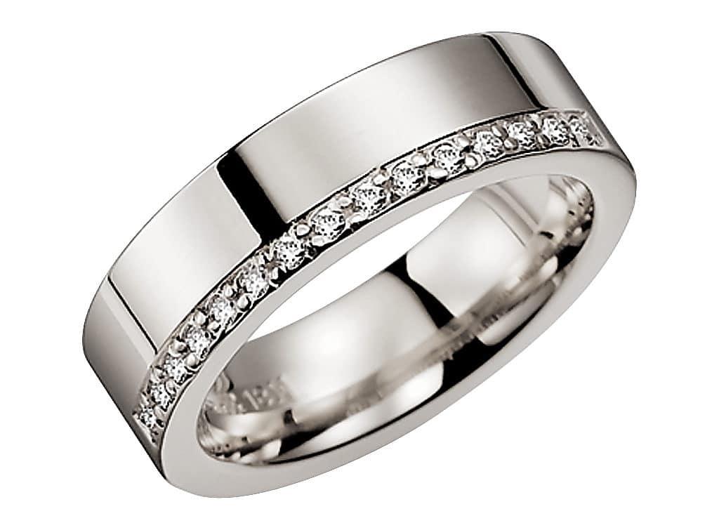 Diamantring från Schalins 0,15 WSI i PalladiumTropic – Trinidad