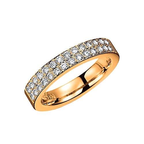 Diamantring från Schalins ringar i 18k roseguld