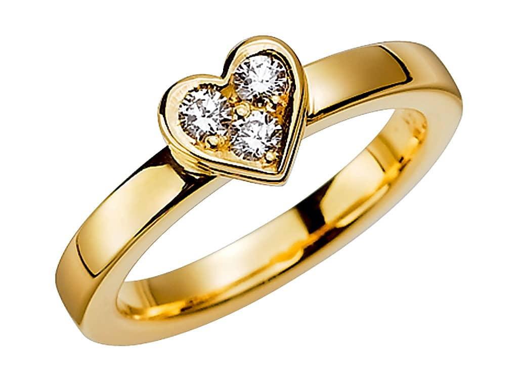 Diamantring från Schalins 0,21 WVS i 18k guld Tropic – Aruba