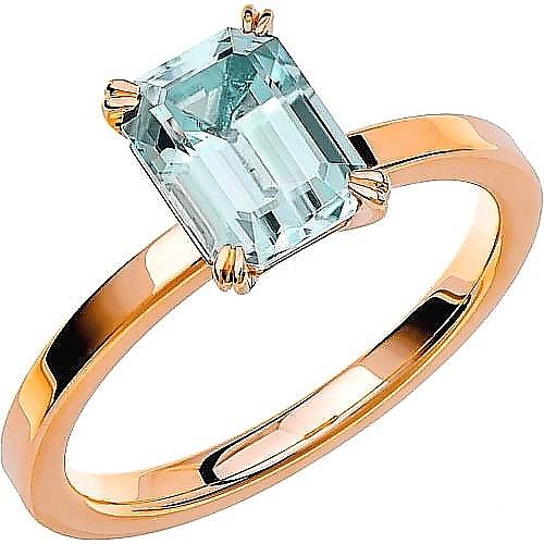 Ring från Schalins i 18k roseguld med en Akvamarin sten 1,40 ct - FAIRYTALE 1 Akvamarin