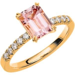 Schalins ring Fairytale 2 18k guld/ Morganit 1,40 ct / diamanter 0,20 ct WSI