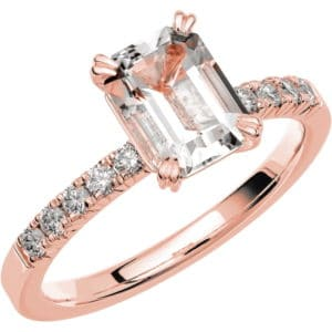 Ring Fairytale 2 18k roseguld/ Snövit Beryll 1,40 ct / diamanter 0,20 ct WSI