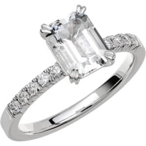 Ring Fairytale 2 18k vitguld/ Snövit Beryll 1,40 ct / diamanter 0,20 ct WSI