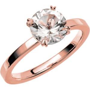 Schalins ring Fairytale 3 Snövit Beryll 7,5 mm 18k roseguld