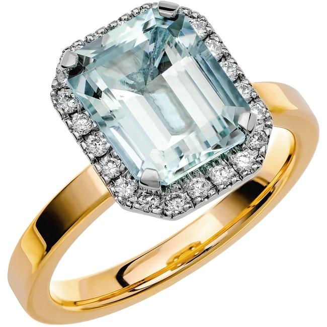Ring från Schalins Fairytale 7/ Akvamarin 10x8 mm/ diamanter 0,22 ct i 18k guld