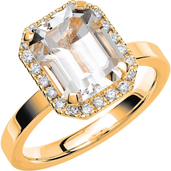 Ring från Schalins Fairytale 7/ Snövit Beryll 10x8 mm/ diamanter 0,22 ct i 18k guld