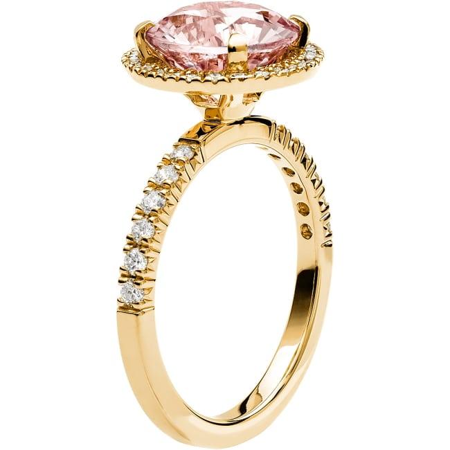 Ring från Schalins Fairytale 10/ Morganit 9,5 mm/ diamanter 0,48 ct i 18k guld
