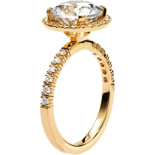 Ring från Schalins Fairytale 11/ Snövit Beryll 9 mm/ diamanter 0,24 ct i 18k guld
