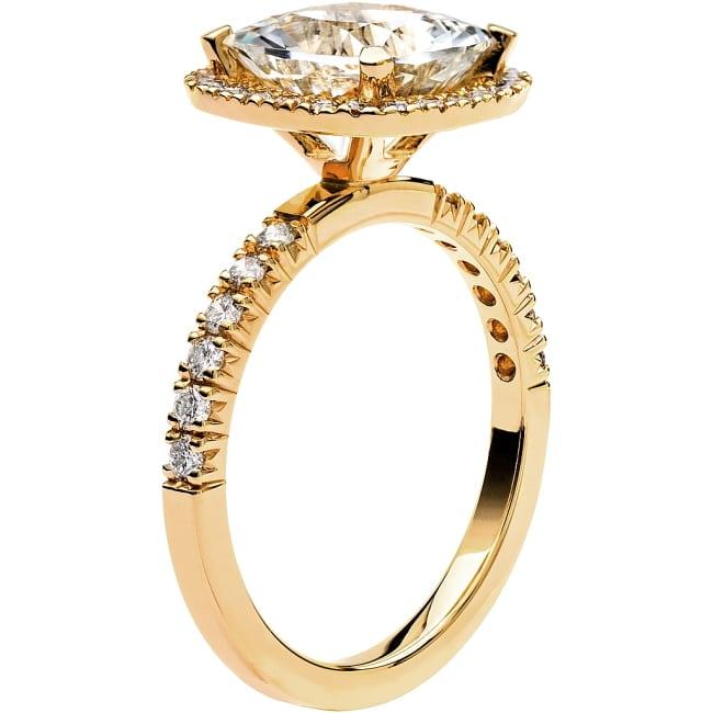 Ring från Schalins Fairytale 12/ Snövit Beryll 9 mm/ diamanter 0,48 ct i 18k guld