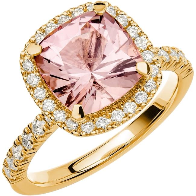 Ring från Schalins Fairytale 12/ Morganit 9 mm/ diamanter 0,48 ct i 18k guld