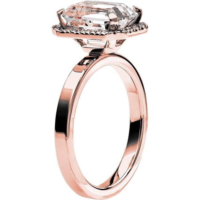 Ring från Schalins Fairytale 7/ Snövit Beryll 10x8 mm/ diamanter 0,22 ct i 18k roseguld