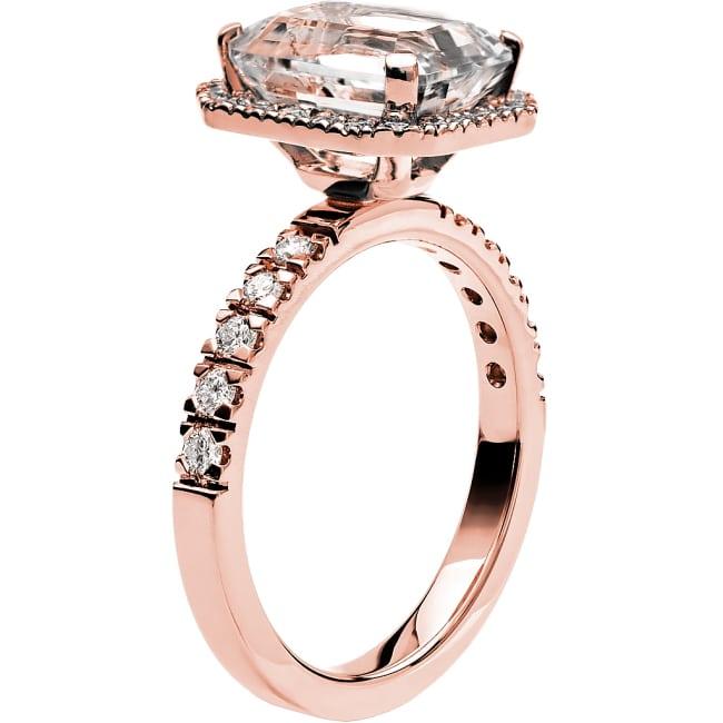 Ring från Schalins Fairytale 8/ Morganit 10x8 mm/ diamanter 0,47 ct i 18k roseguld