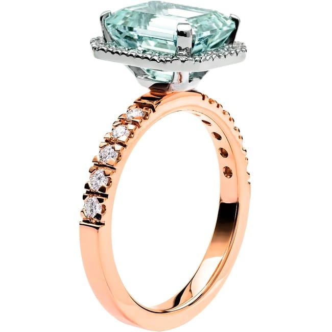 Ring från Schalins Fairytale 8/ Akvamarin 10x8 mm/ diamanter 0,47 ct i 18k roseguld