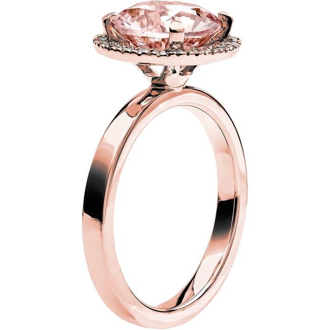 Ring från Schalins Fairytale 9/ Morganit 9,5 mm/ diamanter 0,24 ct i 18k roseguld