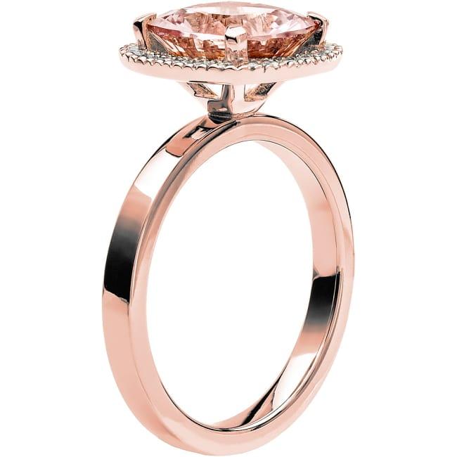 Ring från Schalins Fairytale 11/ Morganit 9 mm/ diamanter 0,24 ct i 18k roseguld