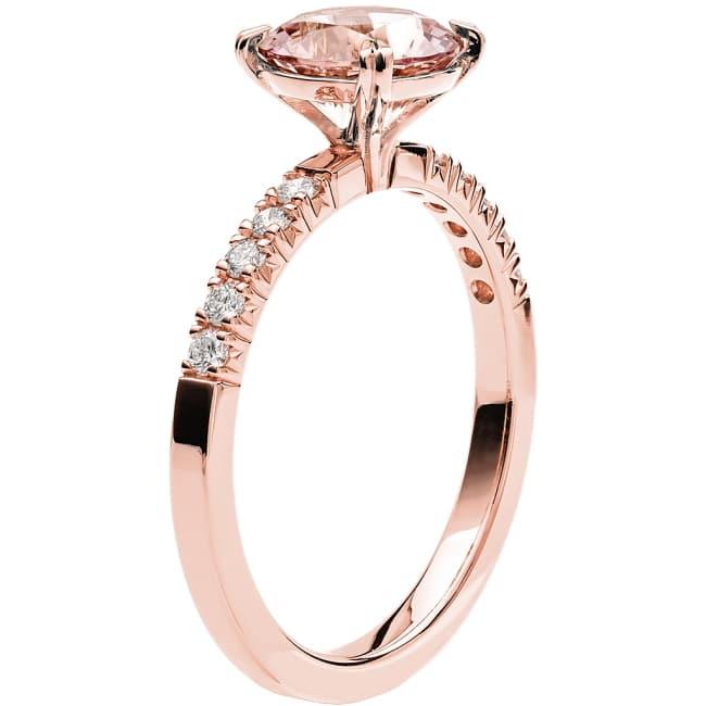 Ring från Schalins Fairytale 4/ Morganit 7,5 mm/ diamanter 0,20 ct i 18k roseguld