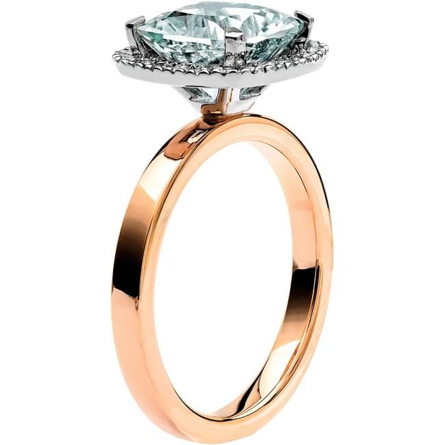 Ring från Schalins Fairytale 11/ Akvamarin 9 mm/ diamanter 0,24 ct i 18k roseguld