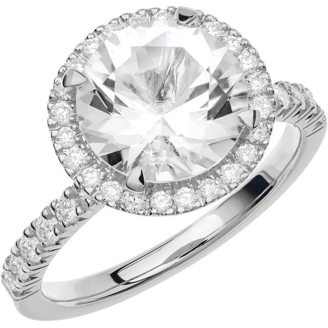 Ring från Schalins Fairytale 11/ Snövit Beryll 9 mm/ diamanter 0,24 ct i 18k vitguld