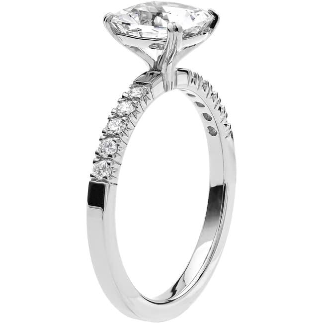 Ring från Schalins Fairytale 6/ Snövit Beryll 7,5 mm/ diamanter 0,20 ct i 18k vitguld