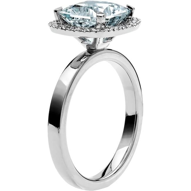 Ring från Schalins Fairytale 11/ Akvamarin 9 mm/ diamanter 0,24 ct i 18k vitguld