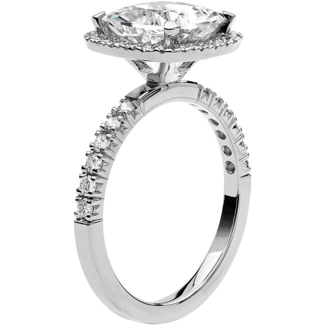 Ring från Schalins Fairytale 12/ Snövit Beryll 9 mm/ diamanter 0,48 ct i 18k vitguld
