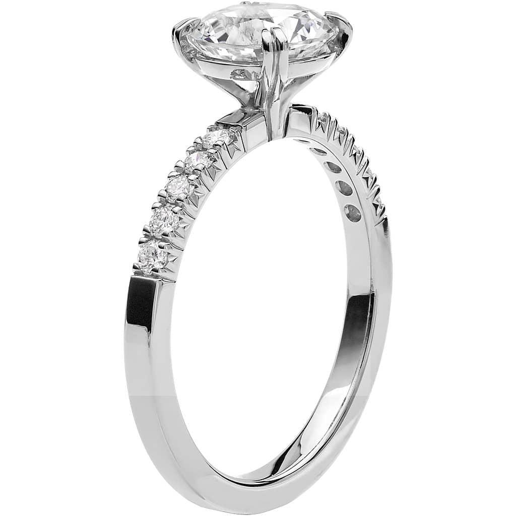 Ring från Schalins Fairytale 4/ Snövit Beryll 7,5 mm/ diamanter 0,20 ct i 18k vitguld
