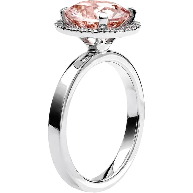Ring från Schalins Fairytale 9/ Morganit 9,5 mm/ diamanter 0,24 ct i 18k vitguld