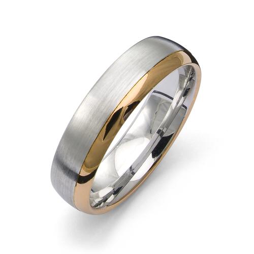 Förlovningsring från Flemming Uziel i 18k guld & vitguld/ 8304 Selective
