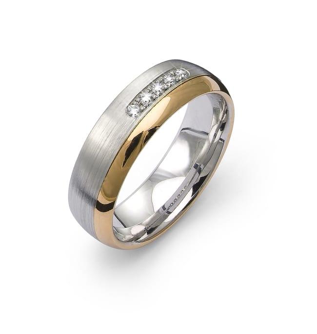 Ring från Flemming Uziel i 18k guld & vitguld 0,075 ct diamanter/ B4172 Selective