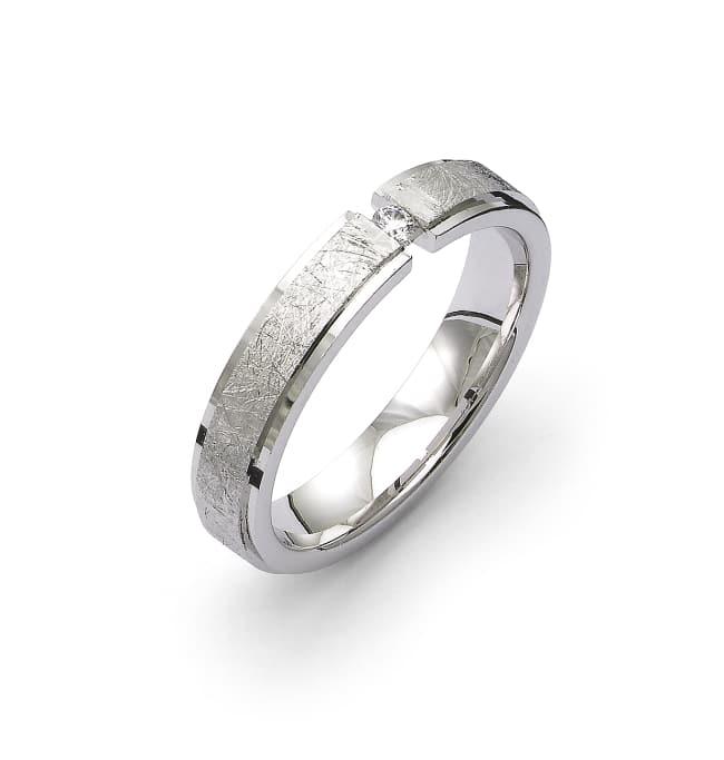 Förlovningsring från Flemming Uziel i 18k vitguld med en briljantslipad diamant på 0,03 ct Wesselton SI. 62043