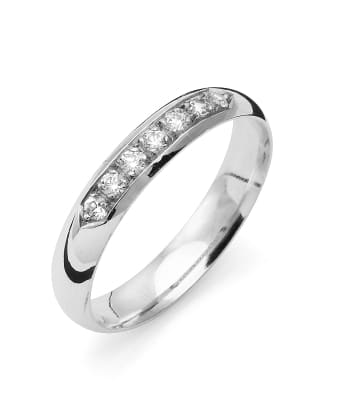 Vigselring Flemming Uziel i 18k vitguld 0,14ct WSI diamanter -B004